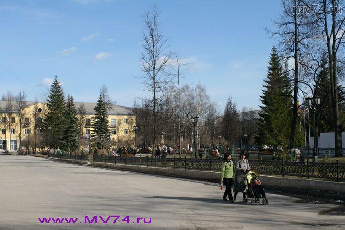 Центр города Аша, Челябинская область